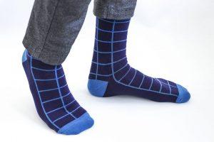 Languotos mėlynos vyriškos kojinės