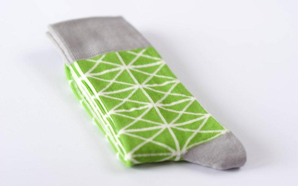 Žalios vyriškos kojinės