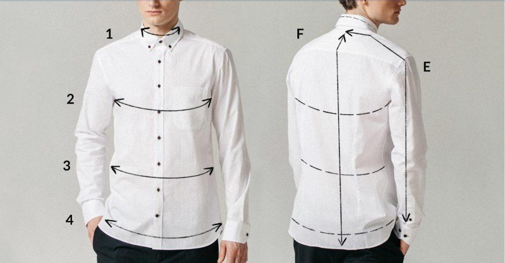 Kaip nustatomas vyriškų marškinių dydis?